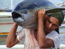 Philippines#9的黄鳍金枪鱼手工渔业 图库摄影