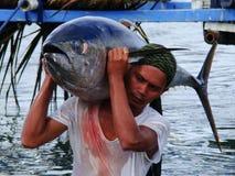 Philippines#13的黄鳍金枪鱼手工渔业 免版税库存图片