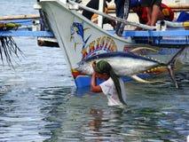 Philippines#15的黄鳍金枪鱼手工渔业 免版税库存照片