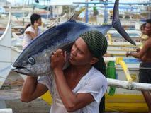 Philippines#16的黄鳍金枪鱼手工渔业 免版税库存图片