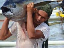 Philippines#17的黄鳍金枪鱼手工渔业 免版税图库摄影
