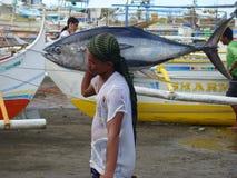 Philippines#19的黄鳍金枪鱼手工渔业 库存照片