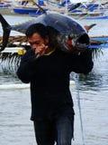 Philippines#22的黄鳍金枪鱼手工渔业 免版税库存照片