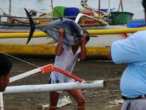 Philippines#23的黄鳍金枪鱼手工渔业 免版税库存图片