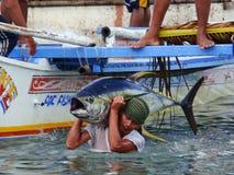 Philippines#26的黄鳍金枪鱼手工渔业 免版税库存图片