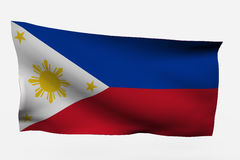 Philippines 3d flag. Isolated on white background Royalty Free Stock Images
