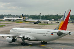 Philippines Airlines Airbus 330 ready for departure Stock Photos