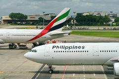 Philippines Airlines Airbus 330 taxiing to gate Royalty Free Stock Image