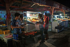 Philippines Barbecue Stand Stock Photography