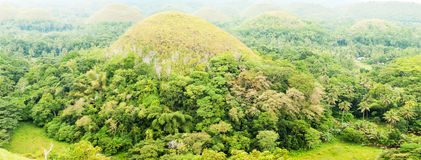 Philippines bohol famous chocolate hills.  Royalty Free Stock Images