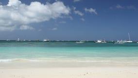 Philippines, Boracay Island. Tropical coastline with white sand, Philippines, Boracay Island stock footage