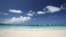 Philippines, Boracay Island. Tropical coastline with white sand, Philippines, Boracay Island stock video