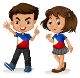 Philippines boy and girl greeting Royalty Free Stock Images