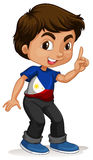 Philippines boy pointing a finger Stock Photo