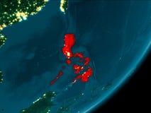 Philippines de l'espace la nuit Photos libres de droits