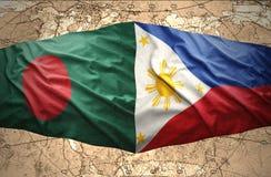 Philippines et le Bangladesh Photographie stock