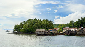 Philippines fishermans  village Stock Photos
