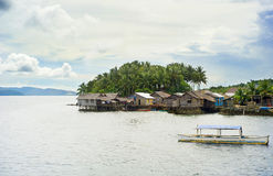 Philippines fishermans  village Royalty Free Stock Photography