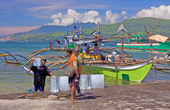 Philippines fishermen Royalty Free Stock Photo