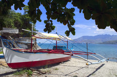 Philippines Fishing Boat on the Beach. Stock Images
