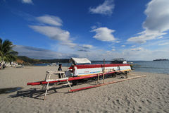 philippines fishing boat in subic beach Stock Photography