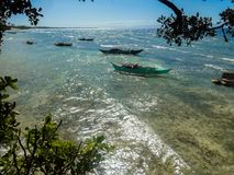 Philippines fishing boats. The sea view with simple fishing boats of the residents of this island Stock Photography