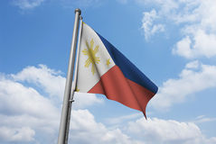 Philippines Flag with Clouds Stock Images