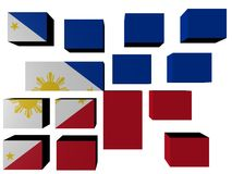 Philippines Flag on cubes Stock Photos