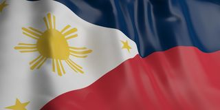 Philippines flag. 3d illustration Stock Photography