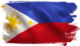 Philippines Flag. With fabric texture. 3D illustration vector illustration