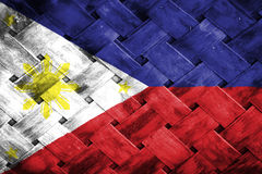 Philippines flag, flag on the wood.  royalty free illustration