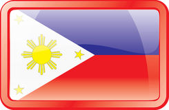 Philippines Flag Icon Royalty Free Stock Images