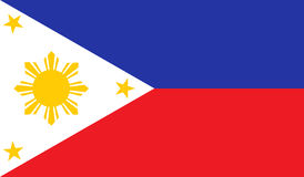 Philippines flag image Royalty Free Stock Image
