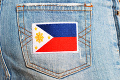 Philippines Flag Patch Royalty Free Stock Image