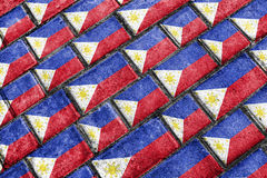 Philippines Flag Urban Grunge Pattern Royalty Free Stock Photos