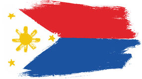 Philippines Flag Vector Hand Painted with Rounded Brush Stock Photo