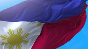 Philippines flag video waving in wind 4K