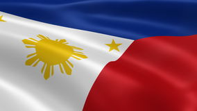 Philippines flag in the wind royalty free illustration