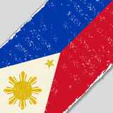 Philippines grunge flag. Vector illustration. Stock Image