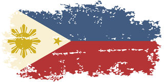 Philippines grunge flag. Vector illustration. Royalty Free Stock Image