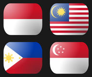 Philippines Indonesia Flag Royalty Free Stock Photo
