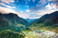Philippines landmark Banaue rice terraces Stock Photo