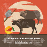 Philippines landmarks. Retro styled image Royalty Free Stock Image