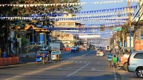 Philippines 2016. Main street in the city of Puerto Princesa stock photo