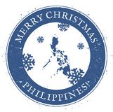 Philippines map. Vintage Merry Christmas. Philippines map. Vintage Merry Christmas Philippines Stamp. Stylised rubber stamp with county map and Merry Christmas Stock Photo