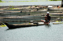 Philippines, Mindanao, South Cotabato, Lake Sebu. Fisherman Royalty Free Stock Image