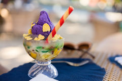 Philippines mixed ice or Halo halo. Famous halo halo or mixed iced from Philippines Royalty Free Stock Photos