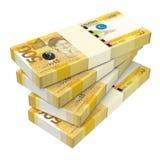 Philippines money isolated on white background. Royalty Free Stock Photos