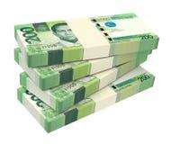 Philippines money isolated on white background. Royalty Free Stock Images