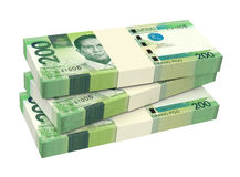 Philippines money isolated on white background. Stock Images